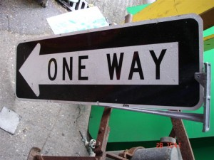 American one way sign - One way signs