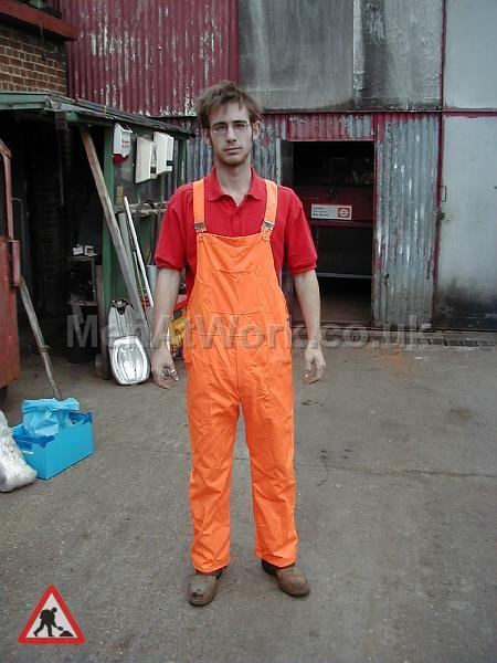 High visibility clothing - Orange dungarees