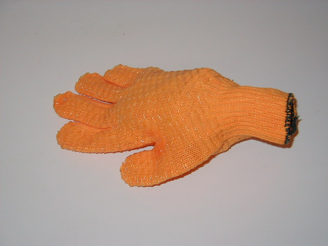Building Site Workman Protective Clothing - Orange treacle gloves