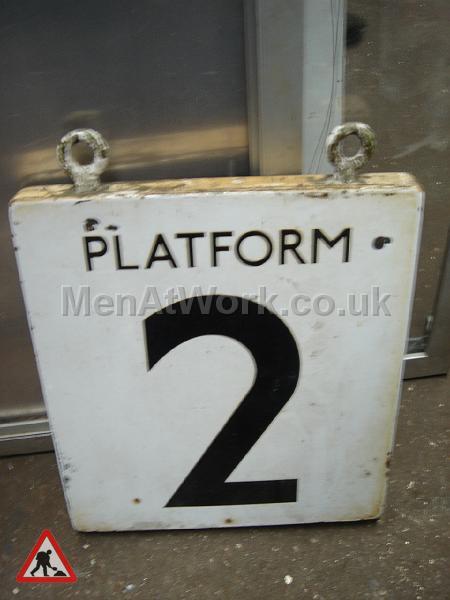 Platform number underground sign - PLATFORM 2 A SIGN