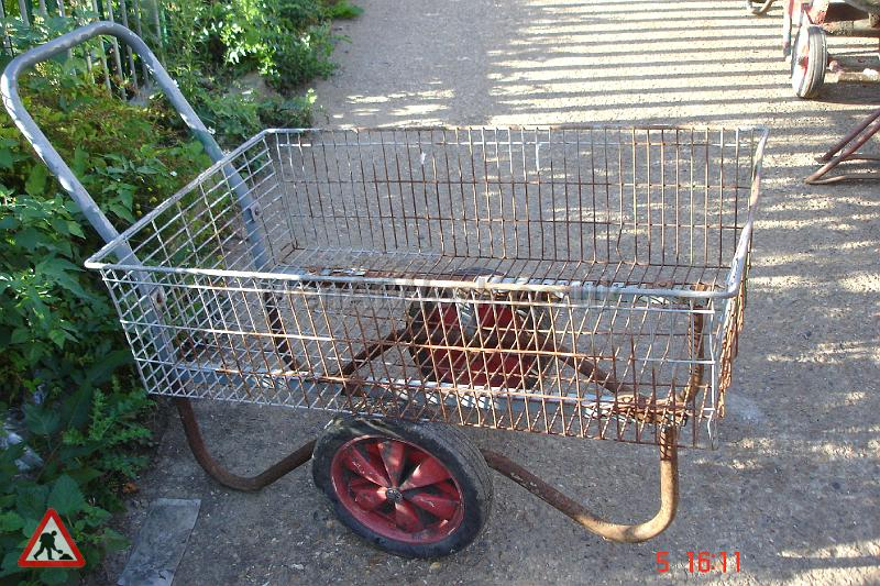 Garden Plant Trolley - Rusted Plant Trolley