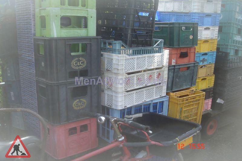 Plastic storage crates - Plastic storage crate, boxes (2)