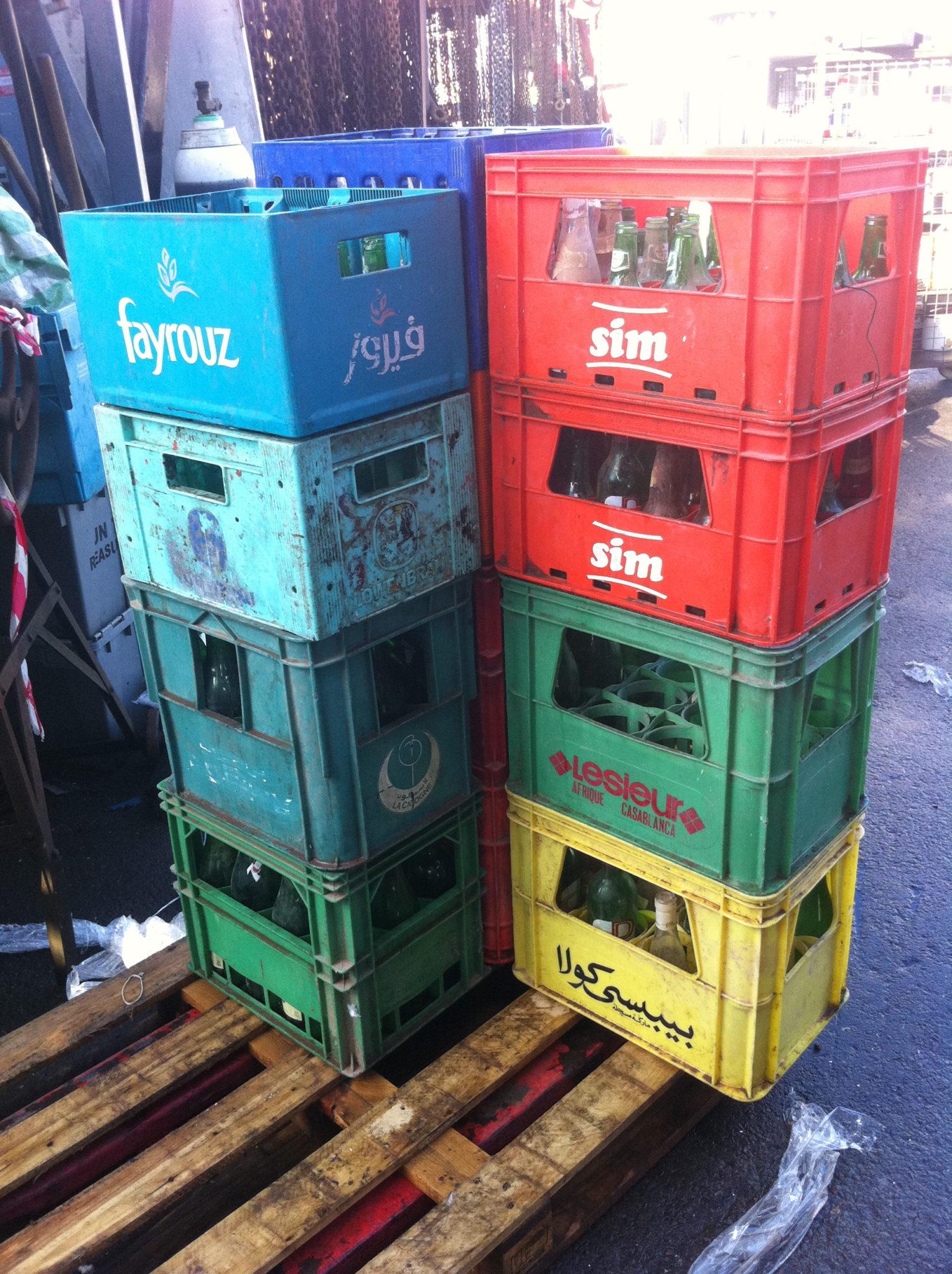 Plastic storage crates - Plastic storage crate, boxes (3)