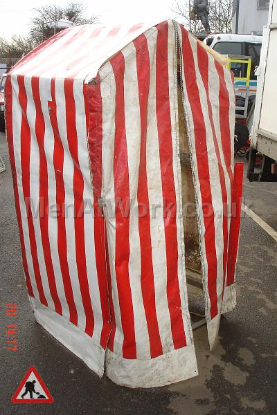 Roadworks / BT Tent - Red and White Tent