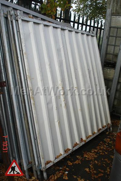 Solid site Perimeter Fence - SOLID SITE PERIMETER FENCE PANEL