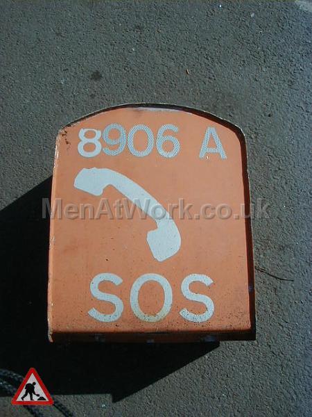 SOS phone - SOS orange phone box – rear view