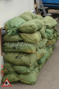 Sandbags Filled with Straw - Sandbags Filled with Straw