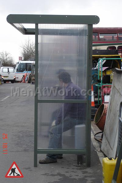 Clear Bus Shelter - Side View