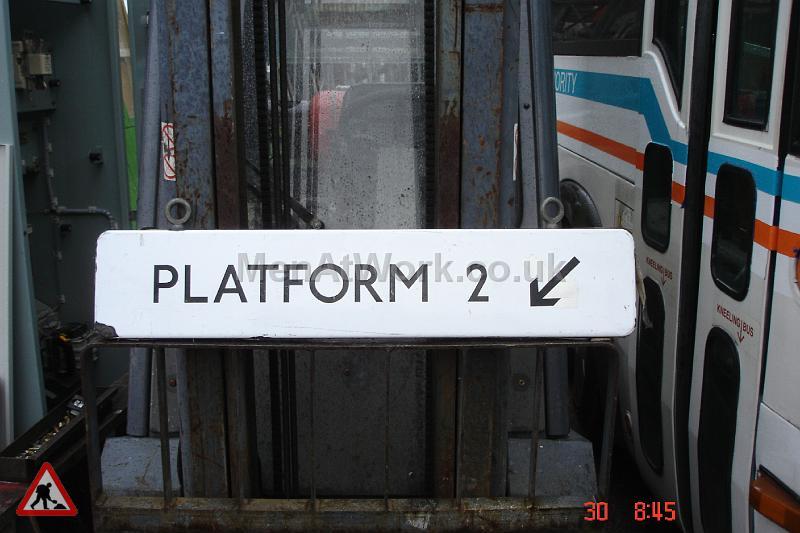 Platform number underground sign - Sign- Platform2