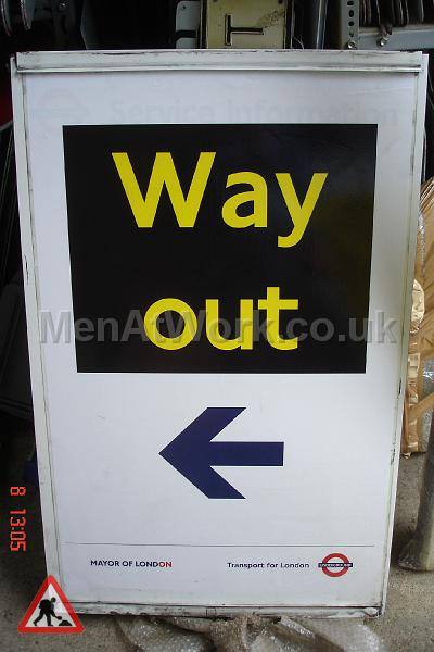 Way out underground sign - Sign- Way out