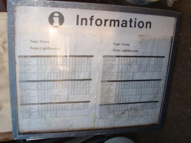 Information underground signs - Sign-information