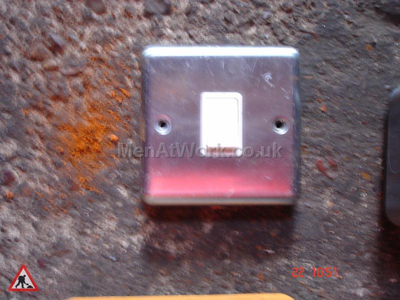 Light Switch Metallic - Single light switch metalic