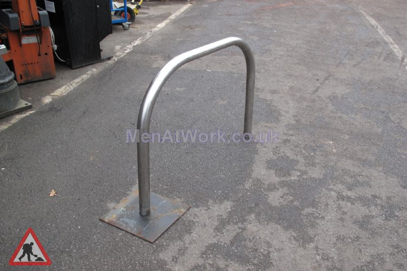 Stainless Steel Bike Rack - Close up