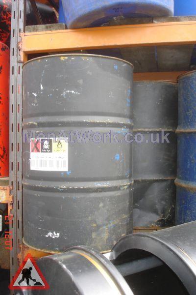 Steel Barrels - Black with hazard sticker