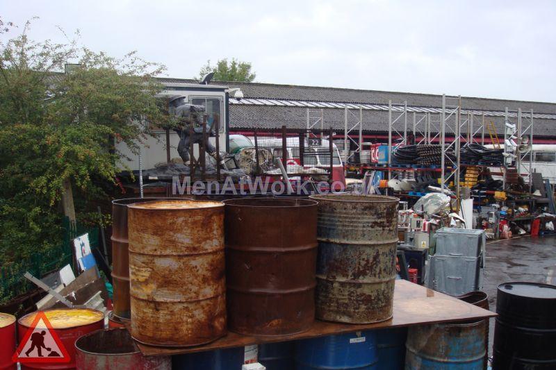 Steel Barrels - Rusted