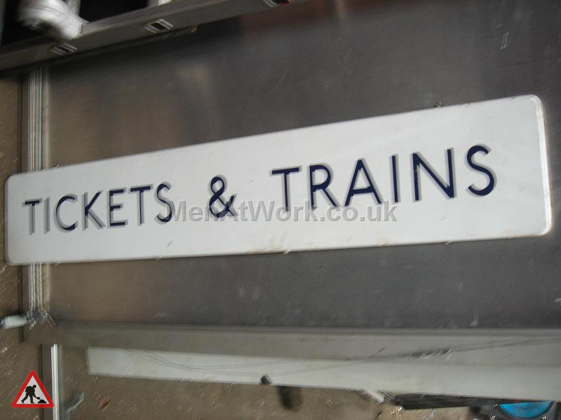 Tickets & Trains underground signs - TICKECTS AND TRAINS