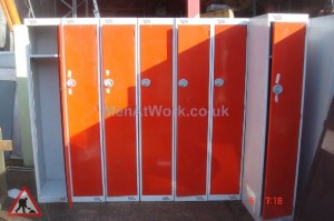 Tall Lockers – Orange Doors - Tall Locker
