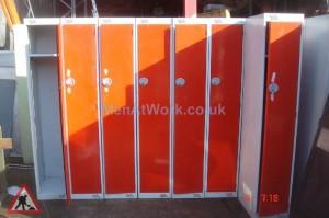 Tall Lockers – Orange Doors - Tall Locker