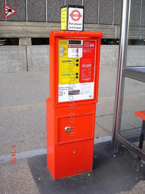 Bus Shelter – Reference Images - Ticket Machine