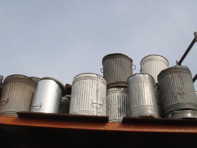 Metal Trash Can - Trash Cans