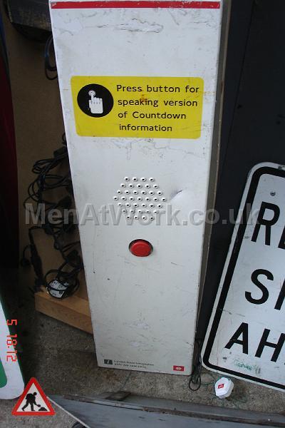 Press button to speak machine- underground - Underground machine- press button to speak