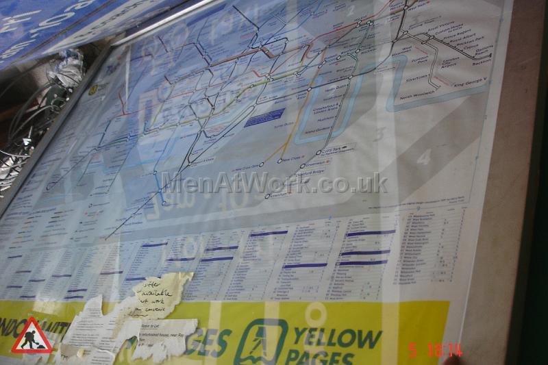 Information underground signs - Underground map