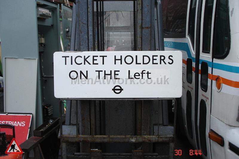 Ticket holders underground sign - Underground sign-Ticket holders on the left