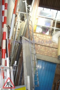 Wall Mounted Building Ladder - Wall Mounted Ladder – Full View