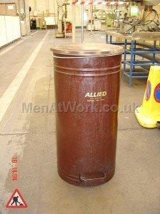 Brown Waste Bin - Waste Bins