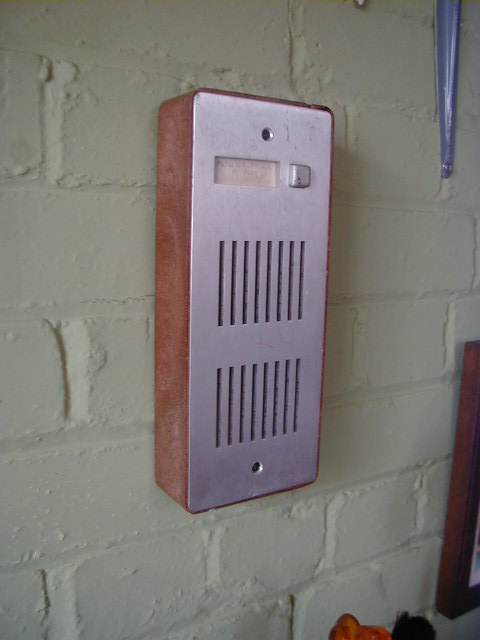 Wooden Framed Intercom - Wooden framed intercom