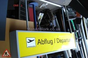 Airport Sign Depatures - Abflug / Departure