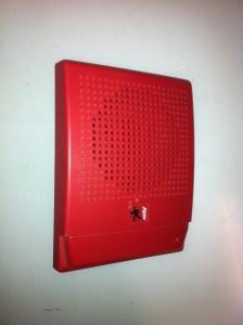 Red Intercom - mounted