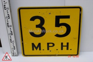 American Street Signs Yellow - 35 M.P.H