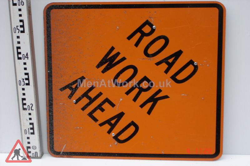 American Street Signs - Road work ahead