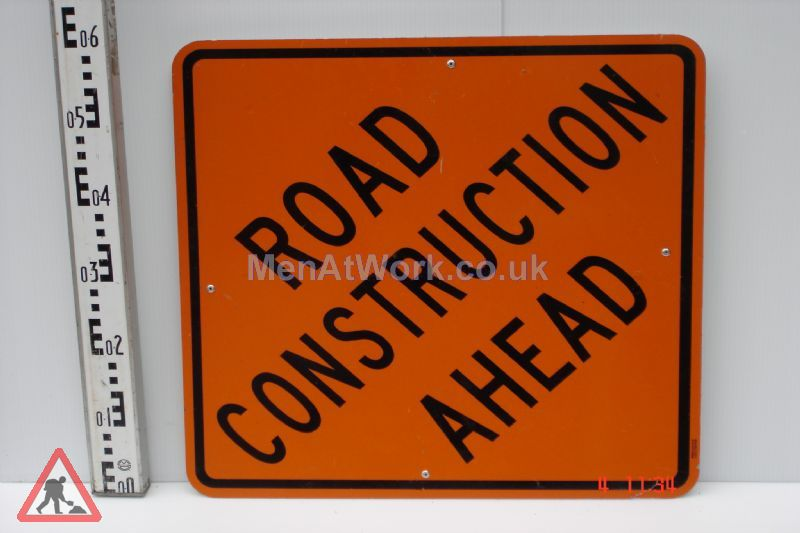 American Street Signs - Road construction ahead