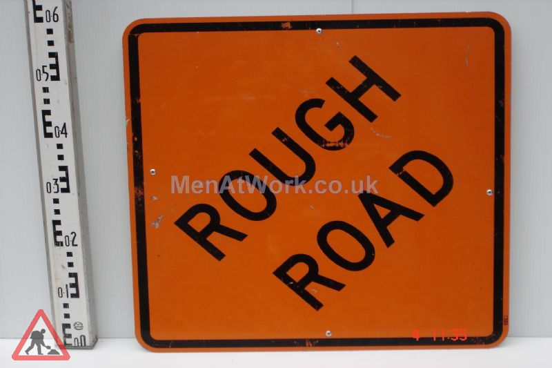 American Street Signs - Rough road