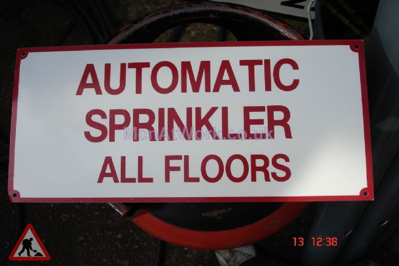 American Fire Signs - automatic sprinkler all floors
