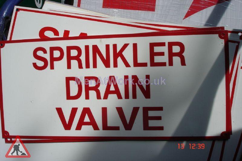American Fire Signs - Sprinkler drain valve