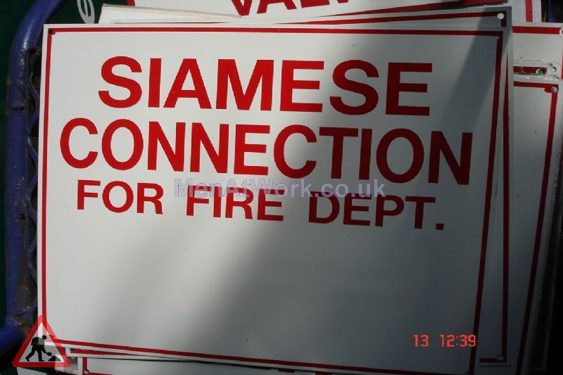 American Fire Signs - Siamese connection for fire dept