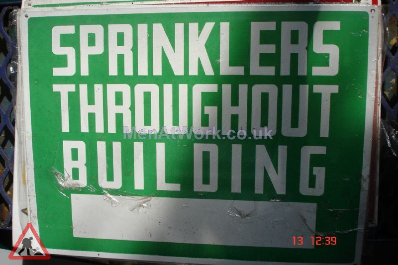American Fire Signs - Sprinklers through building