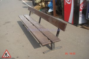 Simple Wooden Benches - With back