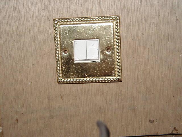 Brass Light Switch - brass light switch twin