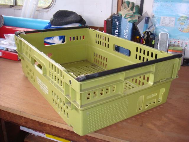 Plastic creates various - bread baskets and plastic crates