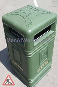 Green Street Bins - green close up