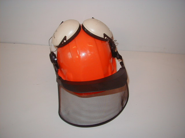 Building Site Workman Protective Clothing - hard hat with visor