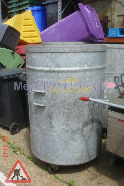 Industrial bin round metal - industial bin round metal