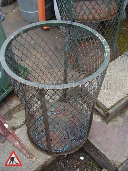 Metal Street Bins - metal mesh bins (2)