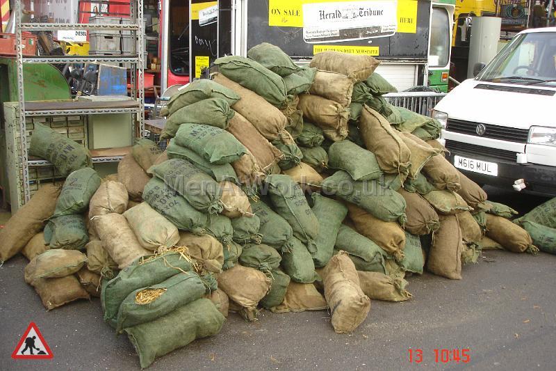 Sandbags Filled with Straw - sandbags