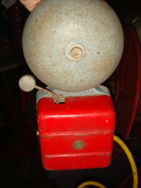 Fire Alarm - Single bell with red base