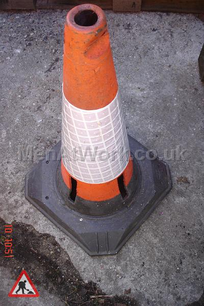 Road Cones - Close up with reflective band